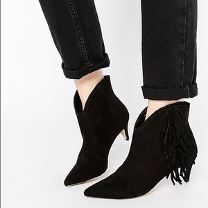 ASOS Fringed Ankle Boots
